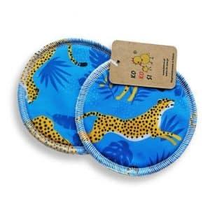 wielorazowe wkładki laktacyjne Kokosi gepardy