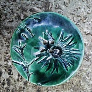 mydelniczka ceramiczna z dziurkami kwiat 1 Ręcznie robione mydelniczki ceramiczne z dziurkami. Wybierz wariant :) Więcej zdjęć poszczególnych wariantów w opisie produktu.