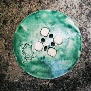 mydelniczka ceramiczna z dziurkami kwiat 4 Ręcznie robione mydelniczki ceramiczne z dziurkami. Wybierz wariant :) Więcej zdjęć poszczególnych wariantów w opisie produktu.