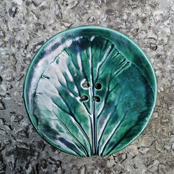 mydelniczka ceramiczna z dziurkami lisc duzy 1 Ręcznie robione mydelniczki ceramiczne z dziurkami. Wybierz wariant :) Więcej zdjęć poszczególnych wariantów w opisie produktu.