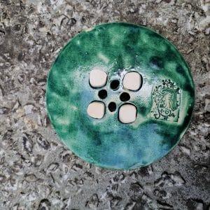 mydelniczka ceramiczna z dziurkami lisc duzy 5 Ręcznie robione mydelniczki ceramiczne z dziurkami. Wybierz wariant :) Więcej zdjęć poszczególnych wariantów w opisie produktu.
